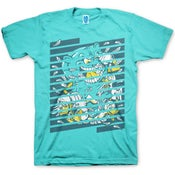 Image of STAY FLUFT - MENS TEAL