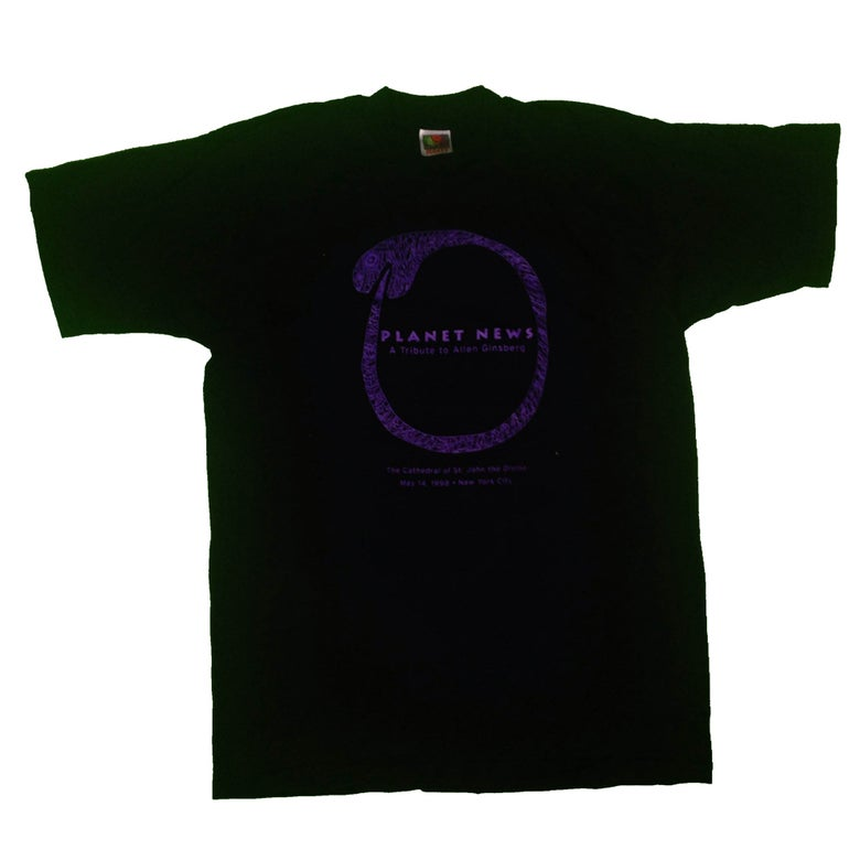"Image of Allen Ginsberg - ""Planet News"" Tee - Black"