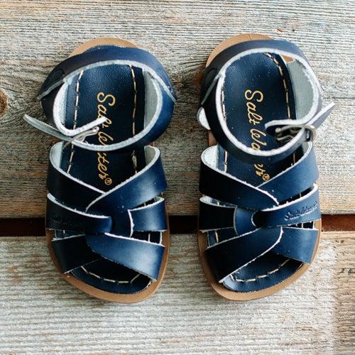 Image of Kids Navy Saltwater Sandals