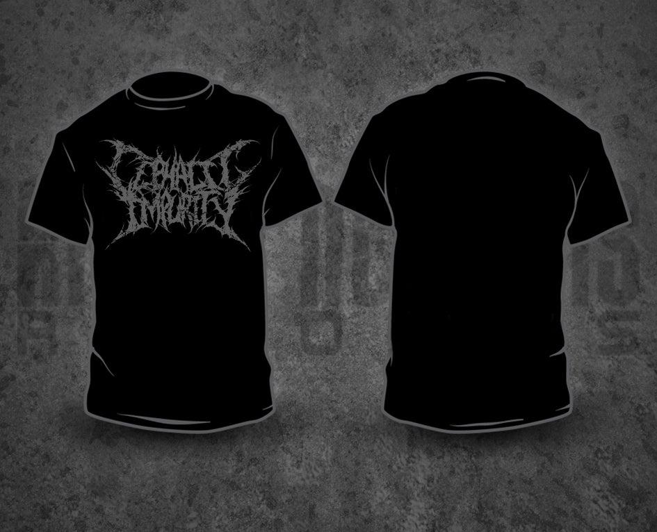 Image of CEPHALIC IMPURITY - Grey Logo T-Shirt