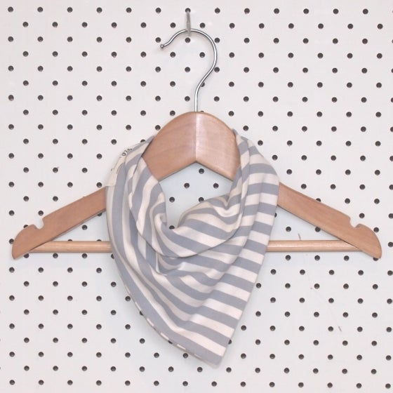Image of Bandana Bib - Grey Stripe