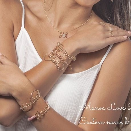 Image of Manoa Love Design/ 14K Gold-filled Custom Order Name Bracelet