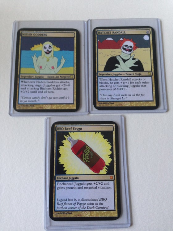 Image of MAGIC: THE GATHERING OF THE JUGGALOS 3 CARD SET