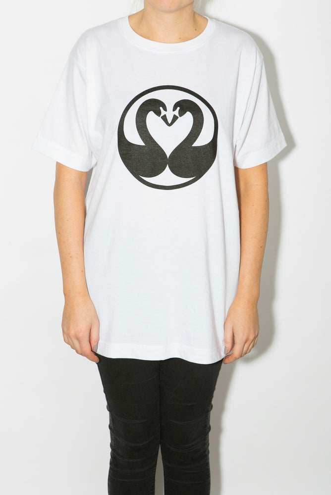 Image of Swans Unisex T-shirt - White