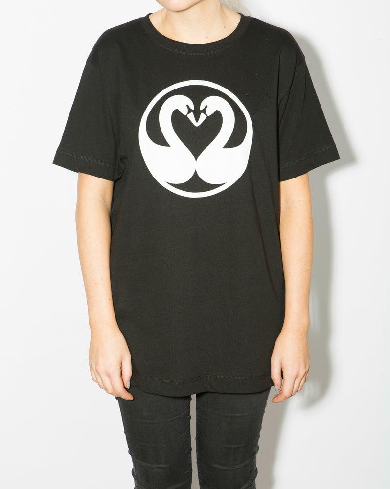 Image of Swans Unisex T-shirt - Black