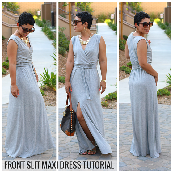 Image of DIY Front Slit Maxi Dress