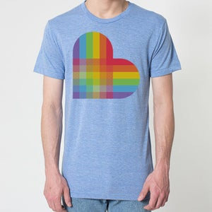 Image of PRIDE HEART T-SHIRT ATHLETIC BLUE