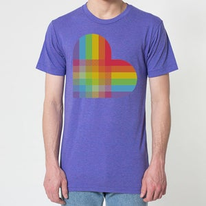 Image of PRIDE HEART T-SHIRT ORCHID