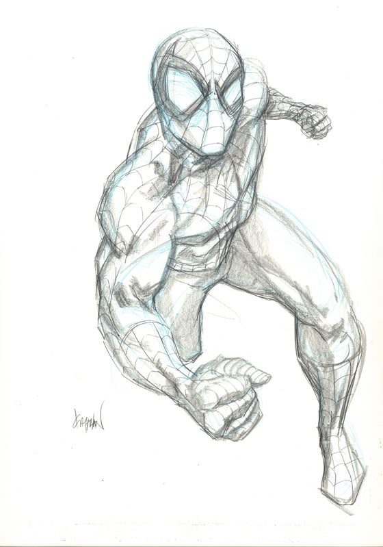 Image of SPIDER_MAN Original Pencil Art 01