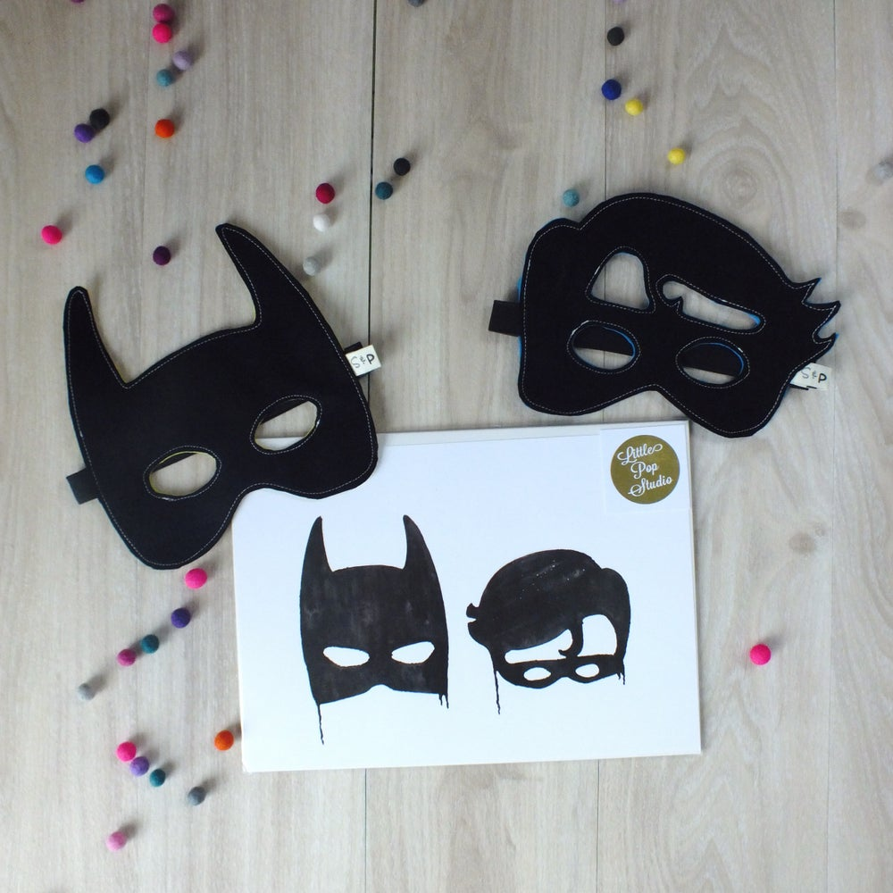 Image of Batboy print and mask set
