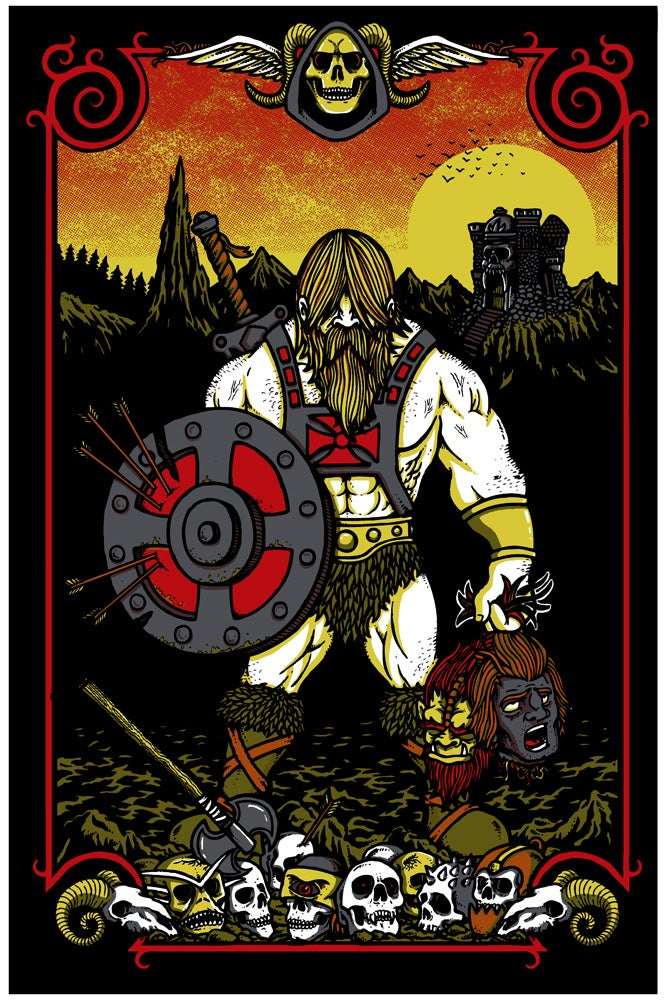 """Image of """"MASTERS OF THE UNIVERSE"""" art print"""