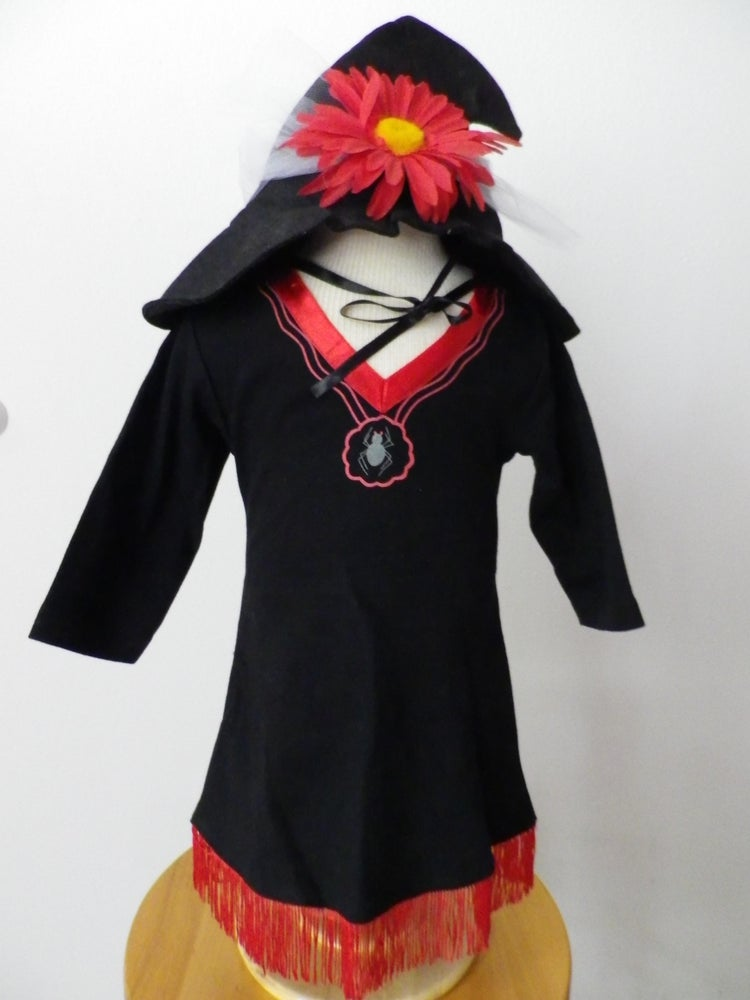 Image of Cotton Baby Witch Costume with Hat and Flower SOLD OUT