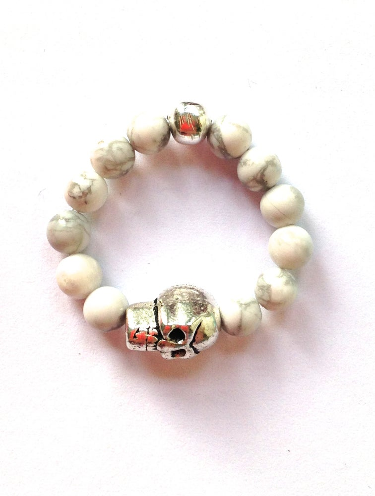 Image of Stackable Charm Ring - Skull