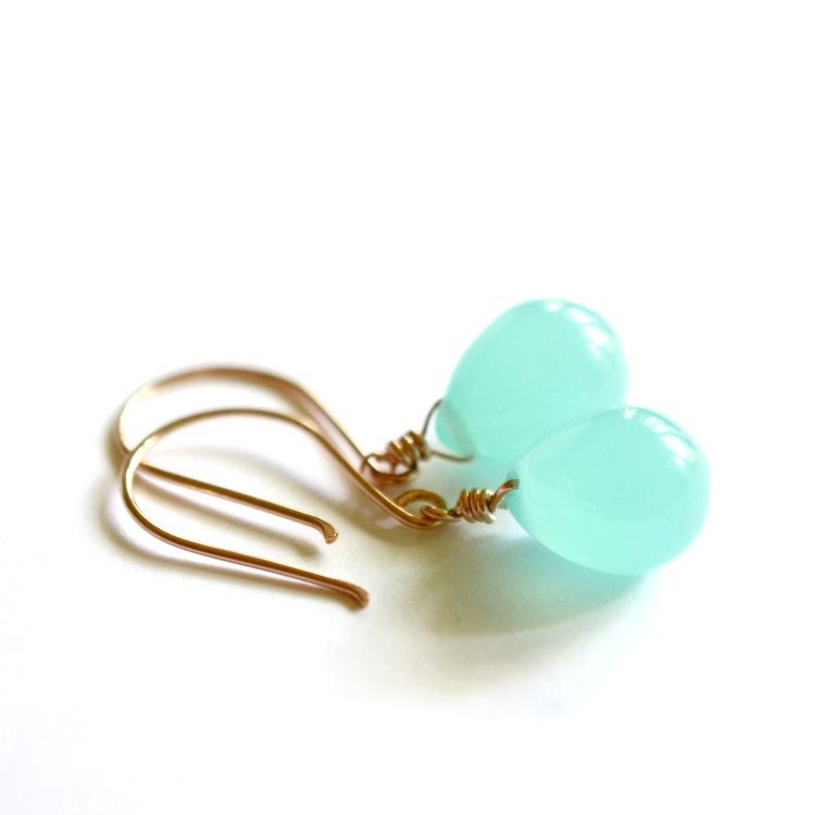 Image of Seafoam glass drop earrings