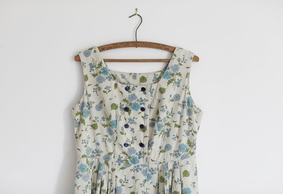 Image of 1950s cotton tea dress