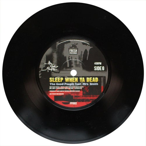 "Image of The Good People - Sleep When Ya Dead/The Bang Out 7"" (FPI002)"