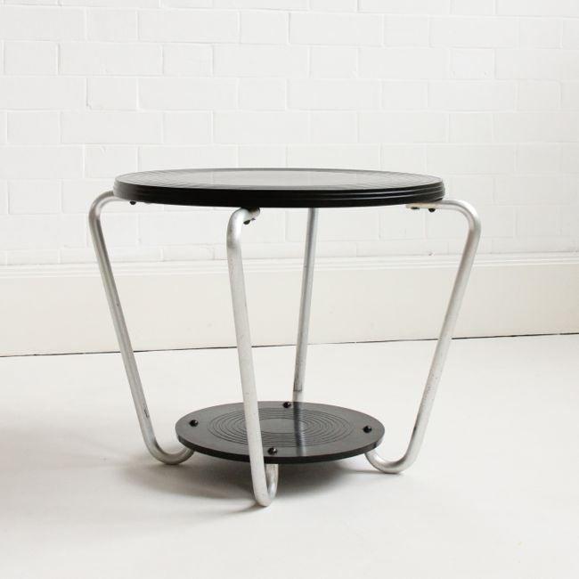 Image of 1930's Bakelite side table
