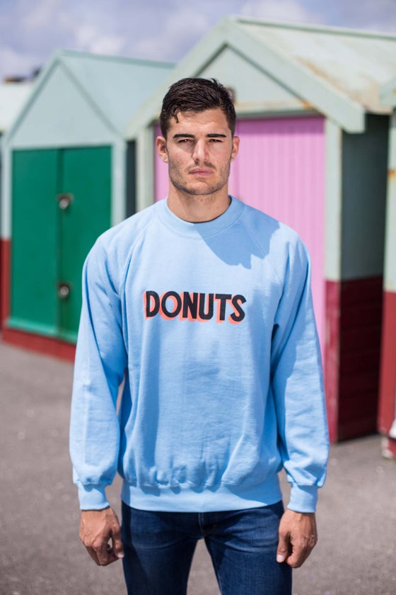 Image of DONUTS CREWNECK - SKY