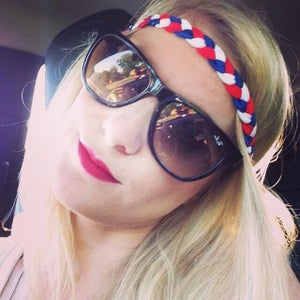 Image of Red, White and Blue Braided Headband