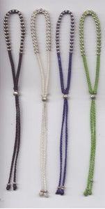 Image of Double Beaded Silver Bracelet