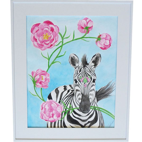 Image of Juliette Zebra Art Print