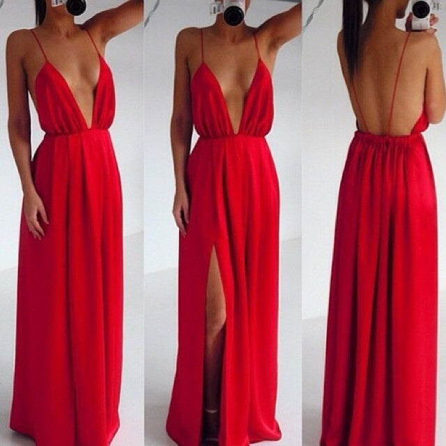 Image of Fashion deep V cute design dress