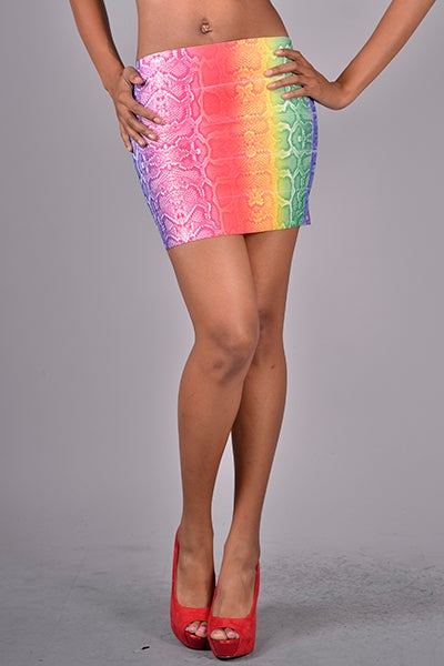 Image of Rainbow Mini Skirt