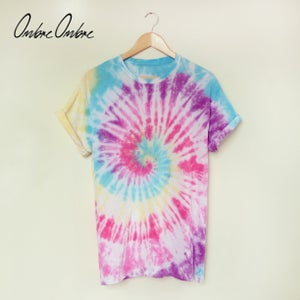 Image of Rainbow Spiral Tee