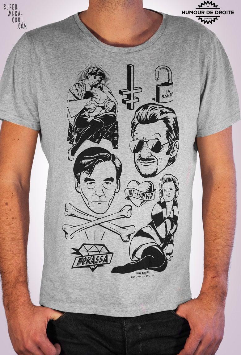 Image of T-shirt HUMOUR DE DROITE - gris chiné - homme