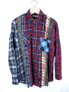 Image of Needles - FW14 Rebuild Flannel Shirt