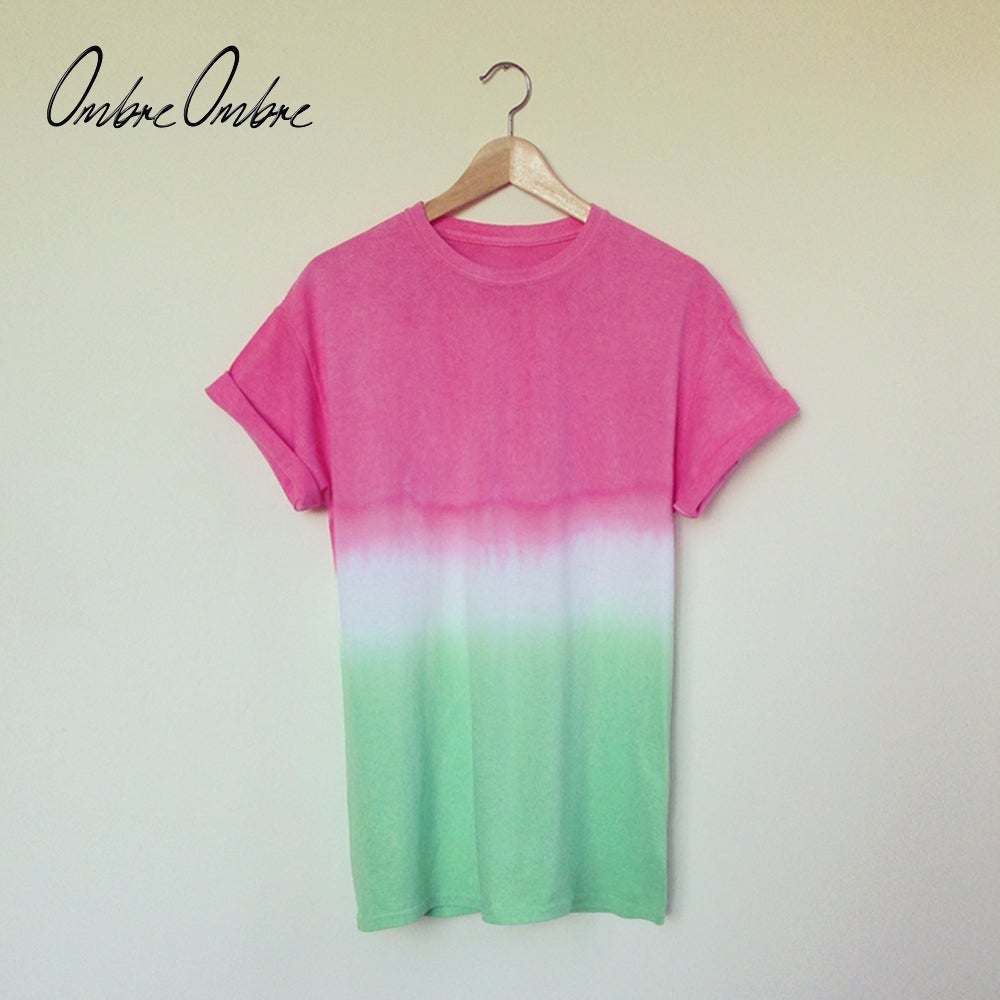 Image of Melon Dip Dye Tee