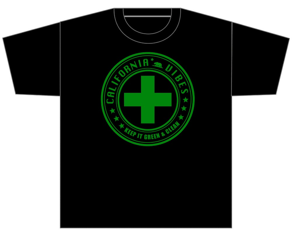 Image of KEEP IT GREEN AND CLEAN BLACK SHIRT