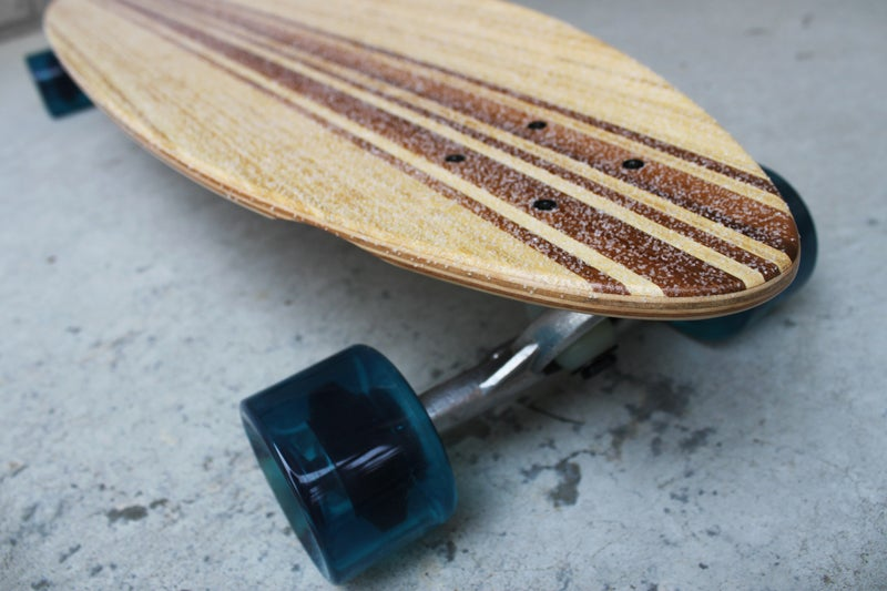 Image of ACE OF DYMONDZ BAMBOO/MAPLE CRUISER LONGBOARD DECK