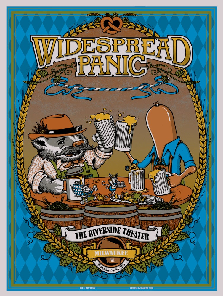 Image of WIDESPREAD PANIC @ Milwaukee, WI 2013 & Silver Variant