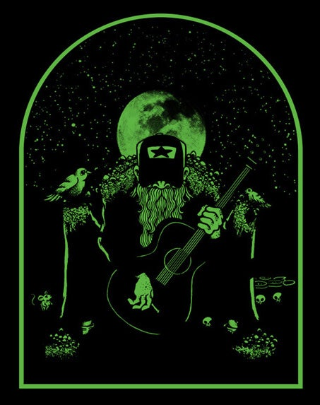 "Image of ""COUNTRY WIZARD"" Glow-in-the-Dark print"