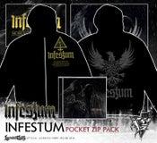 Image of INFESTUM - pocket Zipper hoodie CD / Digipack pack