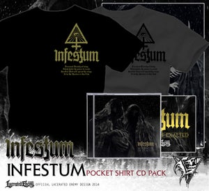 Image of INFESTUM - pocket symbol Tshirt CD or DIGIPACK pack