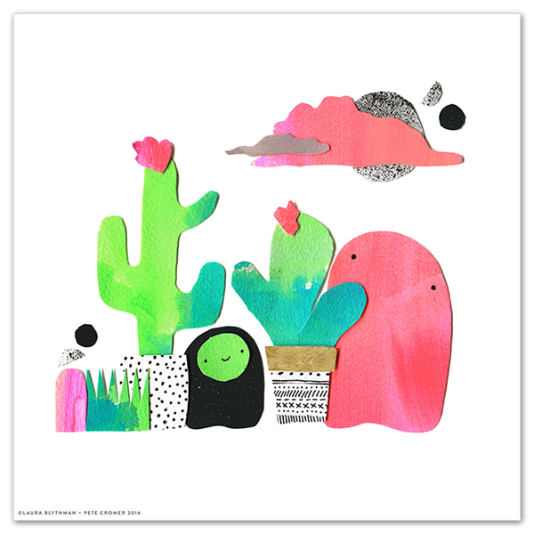 Image of Cactus Bloobs - Limited Edition Print