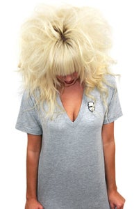 Image of Embroidered V-Neck (Heather grey) (Womens)