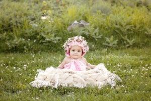 """Image of Soft White Burlap & Lace """"Baby Bird Nest"""" Another Woodsy Wonders Origina"""