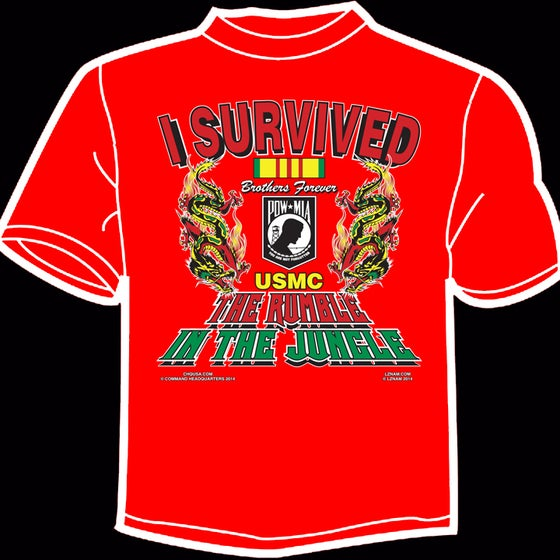 Image of I Survived the Rumble in the Jungle TEE - RED