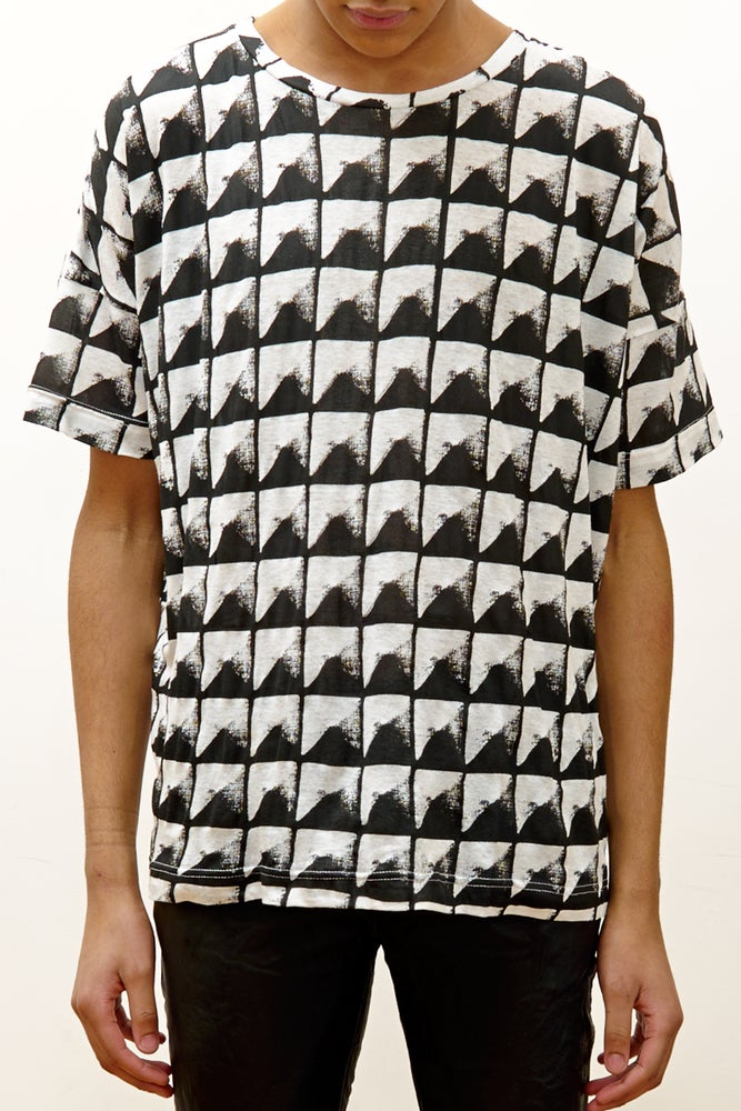 Image of Wide Fit Tee with 'Studs' Print