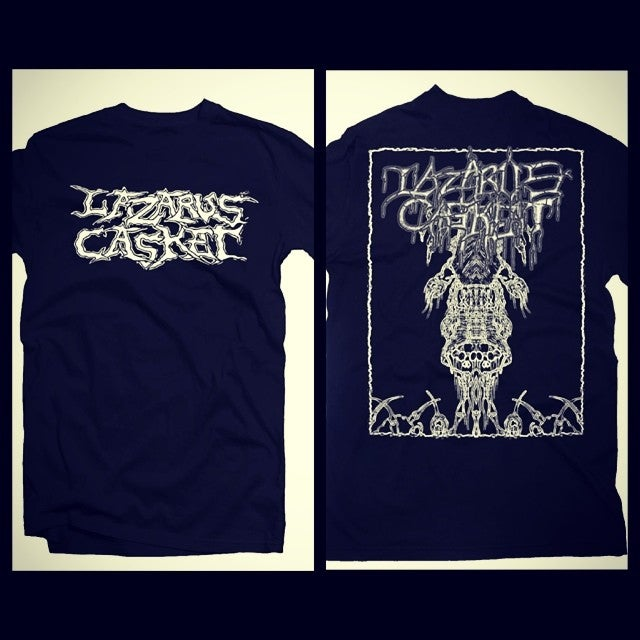 Image of Lazarus Casket album artwork t-shirt