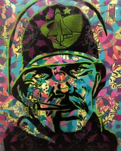 """Image of PaperMonster """"Sarge"""" 20 x 24 in Original Canvas 2008"""