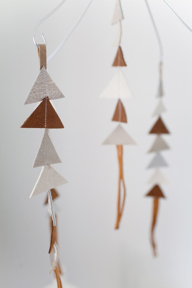 Image of The Leather Triangle Mobile in Enzo **NEW COLORS!