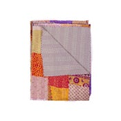 Image of SILK KANTHA THROW 4154