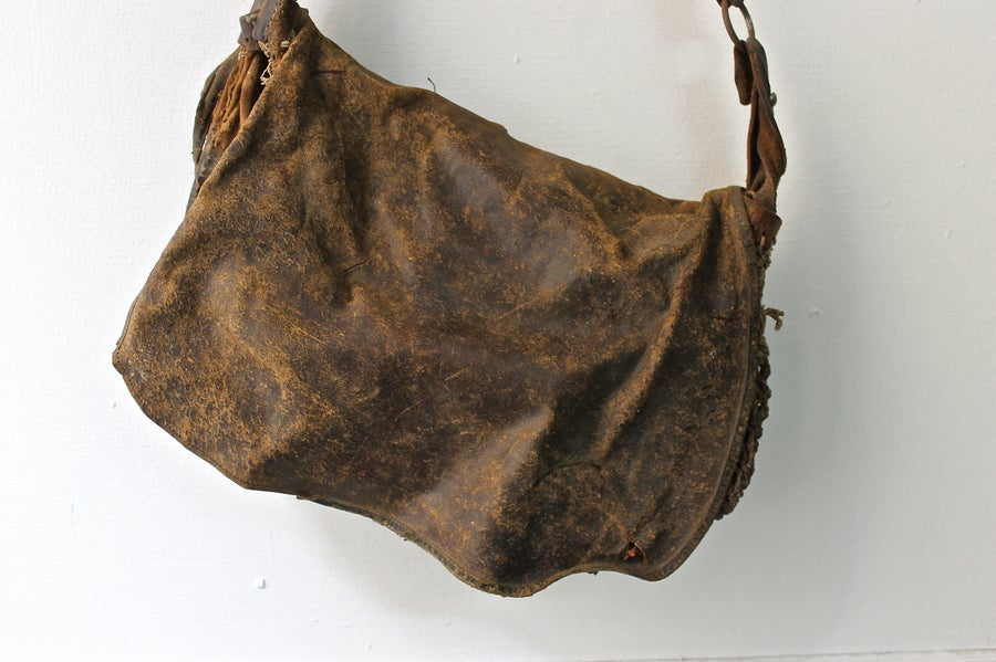 Image of 1920's FRENCH HUNTING SATCHEL