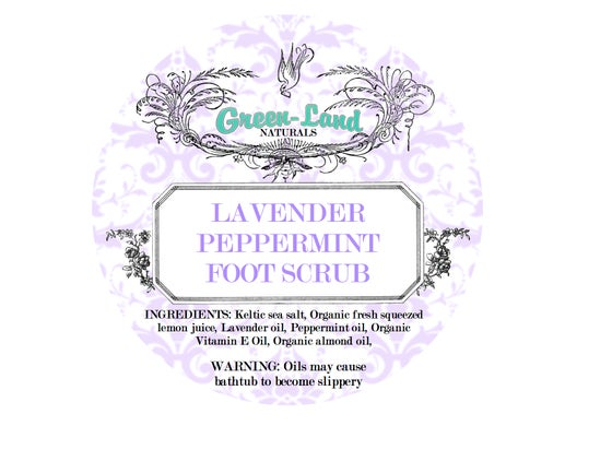 Image of Lavender peppermint foot scrub