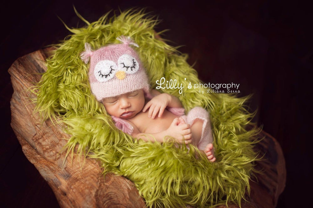Image of Sleepy Owl Lace Short - Hat Set