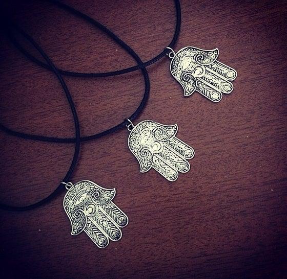 Image of HG hamsa tattoo choker & necklace